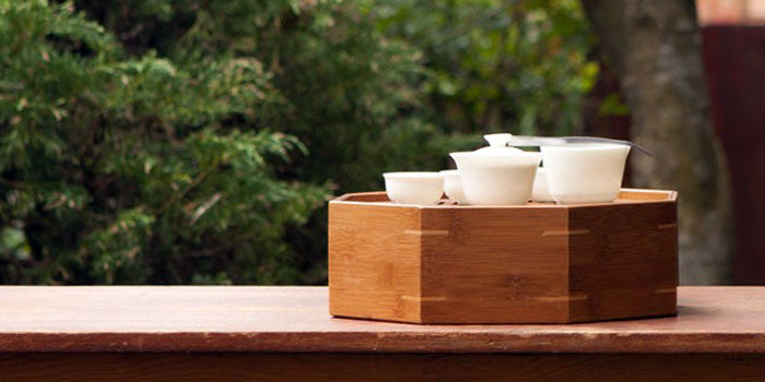 Octagonal Tea Tray & Travel Kit