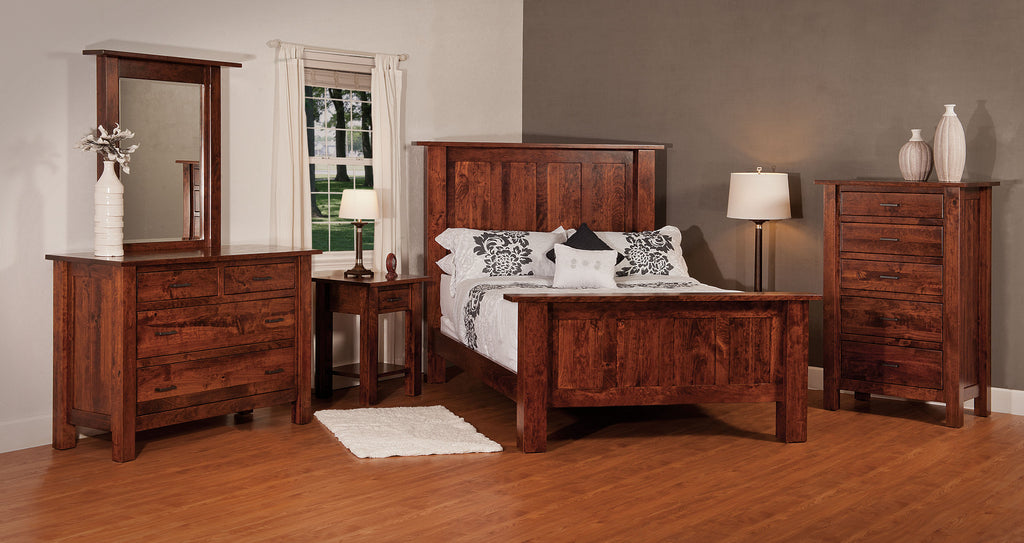 Heidi Bedroom Suite shown in Rustic Cherry/Michaels