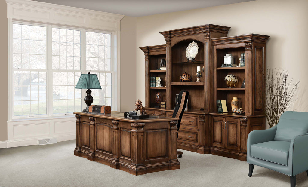 Montereau Office Collection shown in Brown Maple