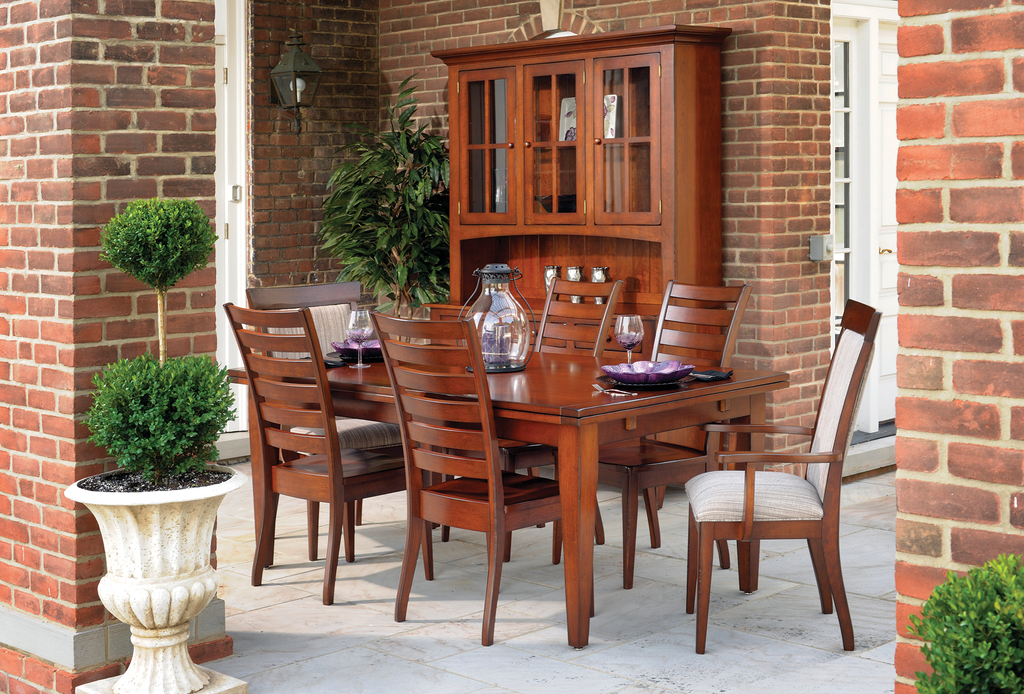 Ashville Dining Collection shown in Cherry/Distressed New Carrington - Low Sheen