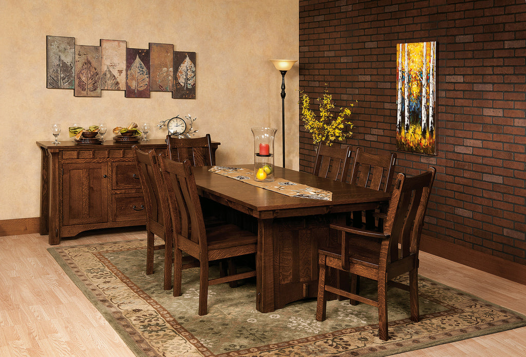 Beaumont Dining Collection shown in 1/4 Sawn White Oak/Asbury