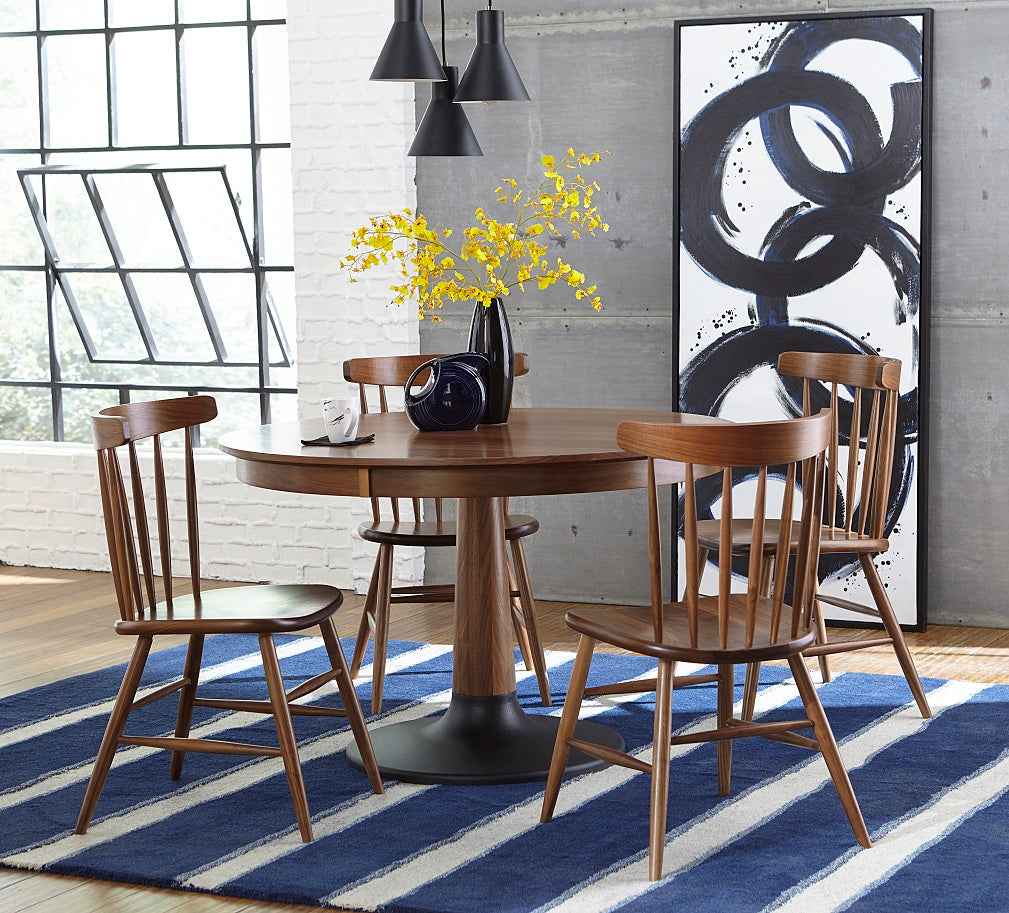 Bowie dining set shown in Walnut with a Natural finish