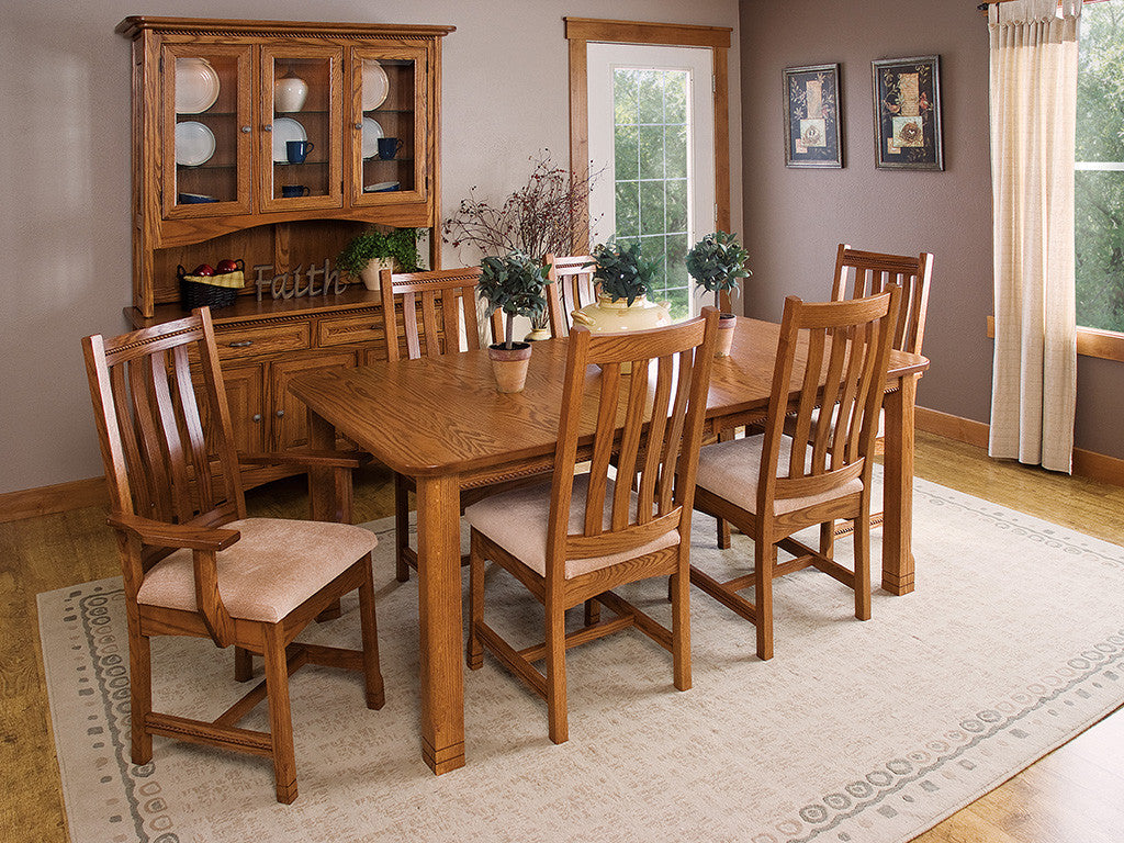 West Lake dining room suite shown in Oak with a S-14 stain