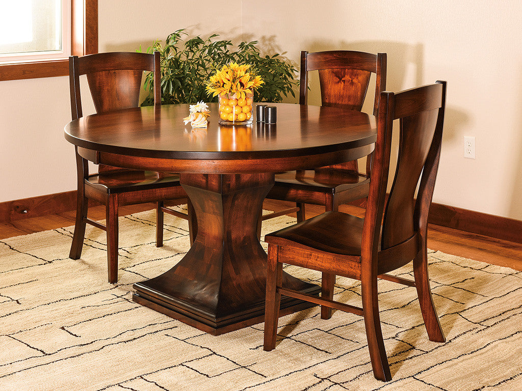 Westin Dining Room suite shown in Brown Maple with a Golden Brown stain