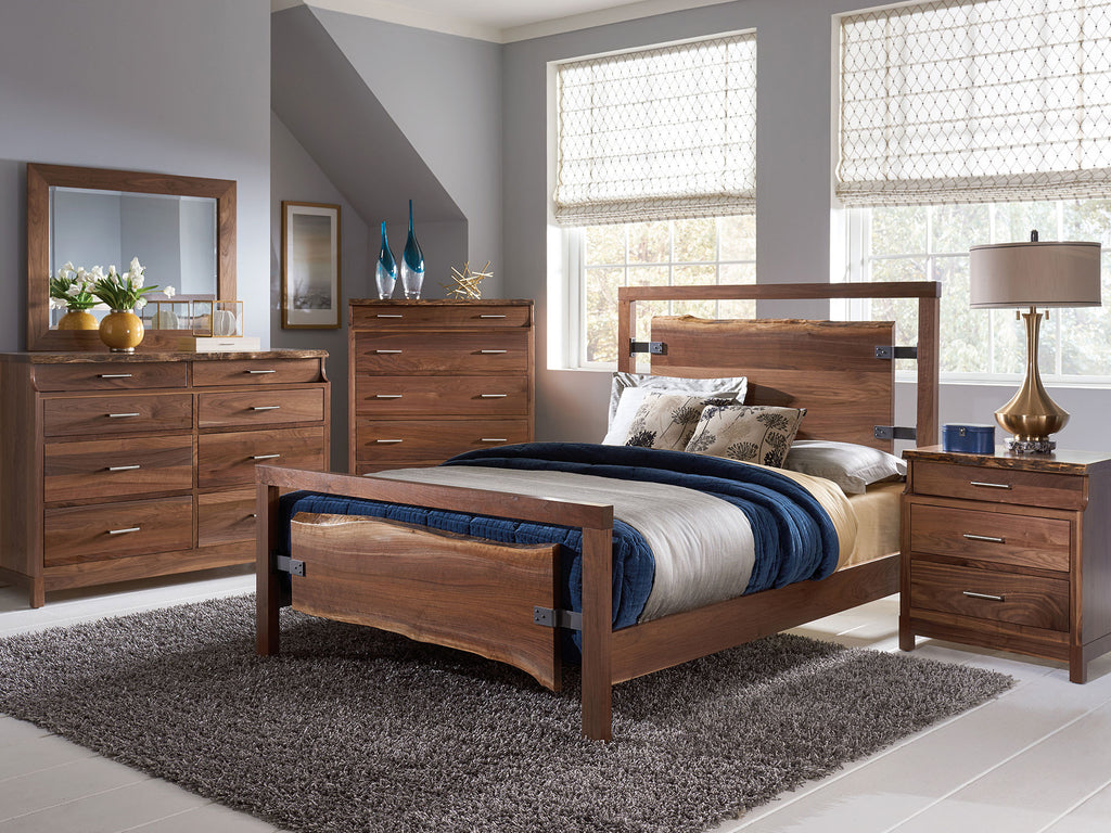 Westmere bedroom collection shown in Walnut