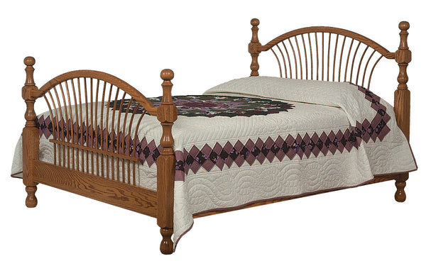 Bow Sheaf bed shown in Oak/Sealy