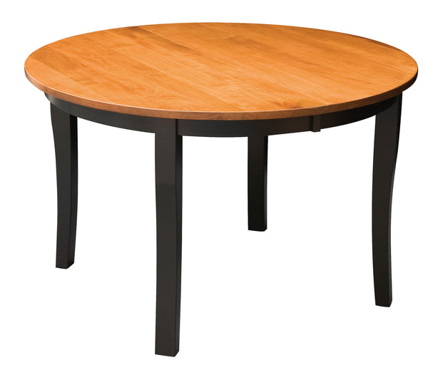 Brady Leg Table shown in Brown Maple with a Malaguania top and Onyx base