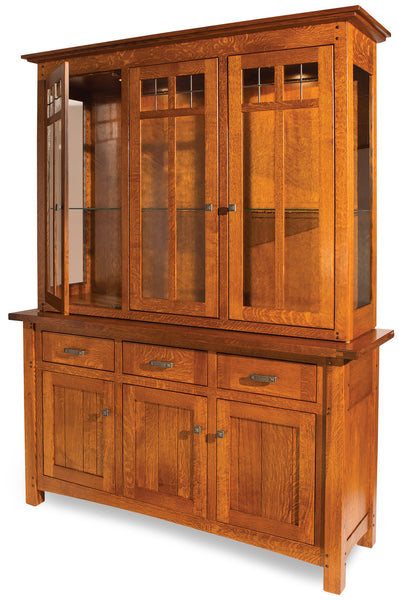 Brunswick hutch shown in 1/4 Sawn White Oak/Michaels
