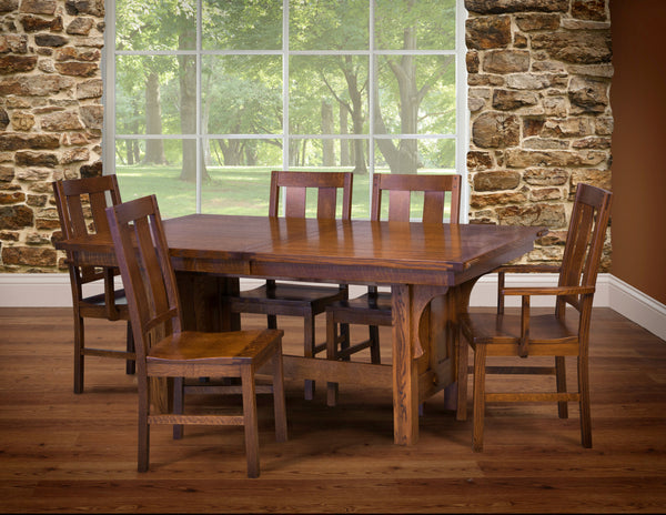 Brunswick dining collection shown in 1/4 Sawn White Oak/Michaels