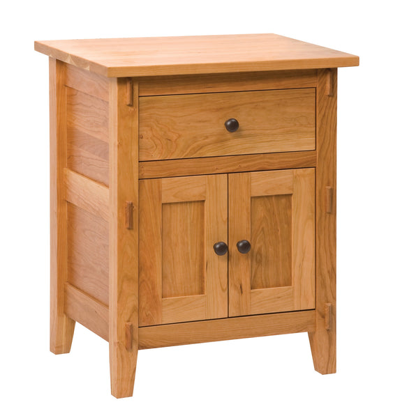 Bungalow 1 drawer nightstand shown in Cherry/Fruitwood