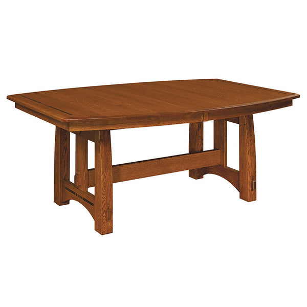 Colebrook Trestle table shown in 1/4 Sawn White Oak/Michaels