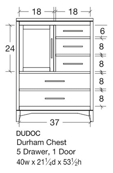 Durham Chest of Drawers