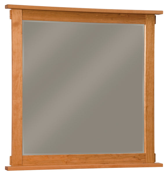 Bungalow mirror shown in Cherry/Fruitwood
