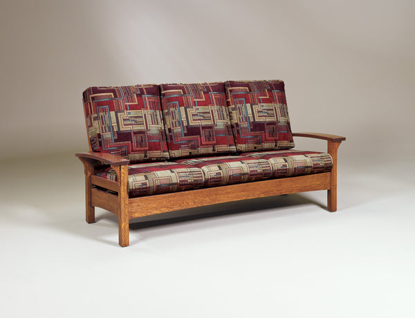 Durango sofa shown in 1/4 sawn white oak with a copper finish