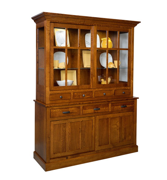 Sherwood hutch shown in 1/4 Sawn White Oak/Michaels