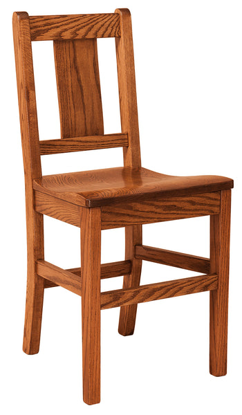 Benson bar chair shown in Oak/Michaels