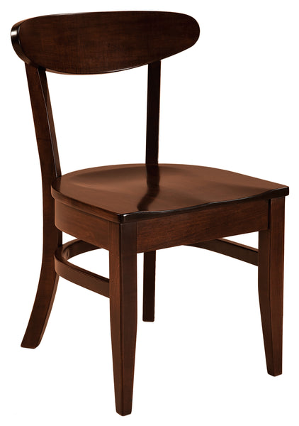Hawthorn side chair shown in Brown Maple with a Rich Tobacco stain
