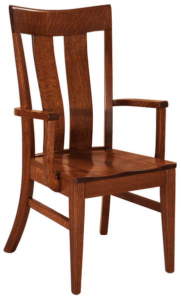 Sherwood arm chair shown in 1/4 sawn white oak and a Michaels Cherry finish