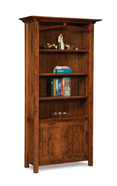 Artesa 2 door bookcase shown in Cherry with an Asbury finish