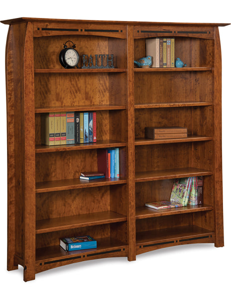 Boulder Creek Double Bookcase shown in Cherry