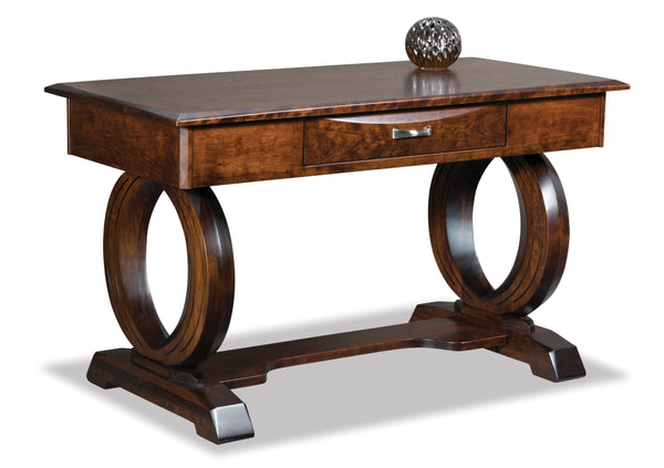 Saratoga writers desk shown in cherry and Windsor finish
