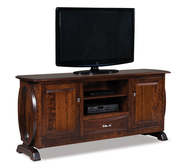 Saratoga TV Cabinet shown in Brown Maple/Golden Brown