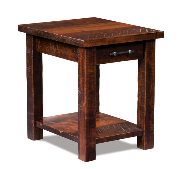Houston end table shown in Rough Sawn Maple