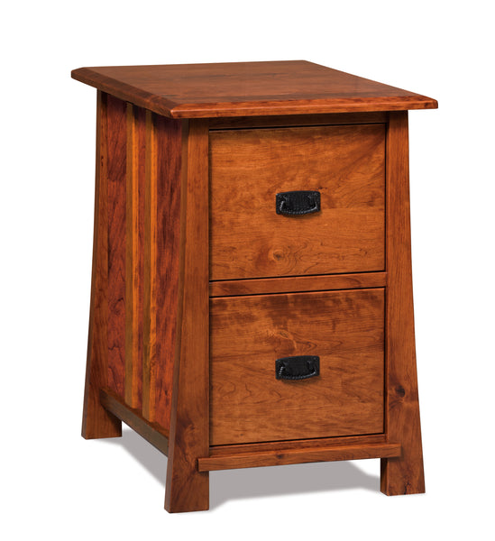 Grant file cabinet shown in Rustic Cherry with a Michaels Cherry finish