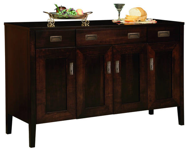 Fayette buffet shown in Brown Maple/Onyx