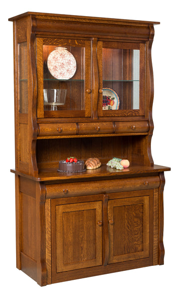 Hampton Frontier Hutch shown in 1/4 Sawn White Oak/Michaels