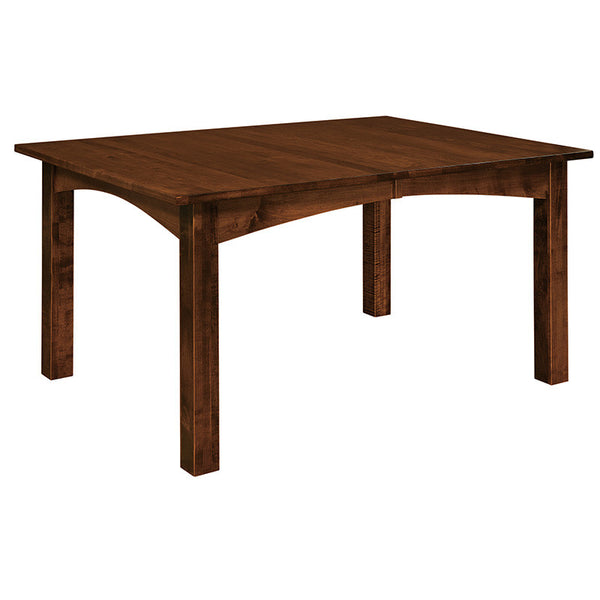 Heidi Leg table shown in Brown Maple/Golden Brown