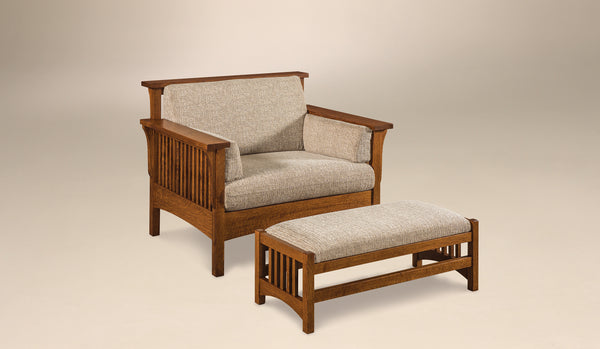 Highback Slat Chair shown in 1/4 Sawn White Oak with a Michaels finish