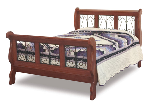 Classic Wrought Iron Sleigh Bed