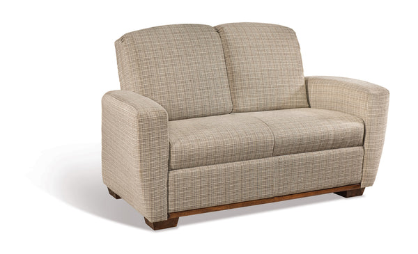 Charleston Loveseat shown with Brown Maple/Asbury trim