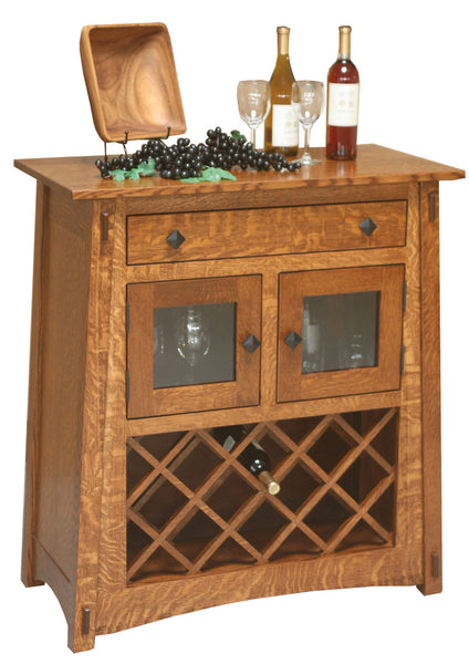 McCoy Wine Server shown in 1/4 Sawn White Oak with Michaels stain