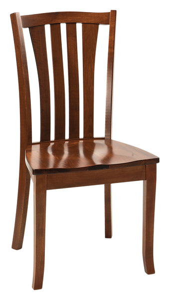 Harris Side Chair shown in Brown Maple with Coffee stain
