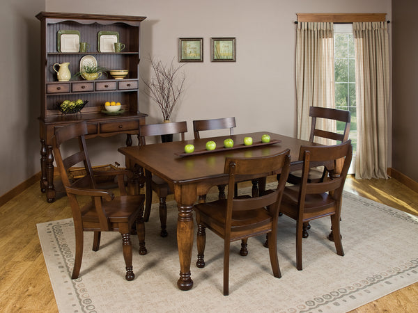 Bellville dining room collection shown in Brown Maple/Rich Tobacco