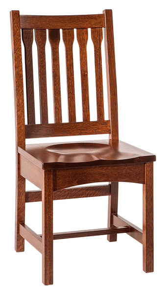 Buchanan side chair shown in 1/4 Sawn White Oak/Michaels