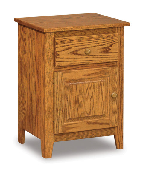 Shaker 1 door nightstand shown in Oak/Golden Honey