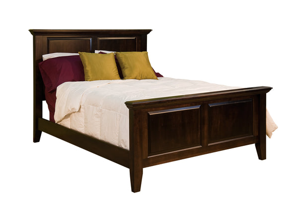 Venice bed shown in Brown Maple/Onyx