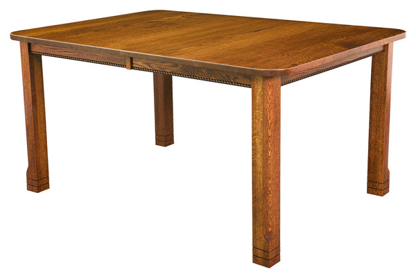 West Lake Leg table shown in 1/4 Sawn White Oak/Michaels
