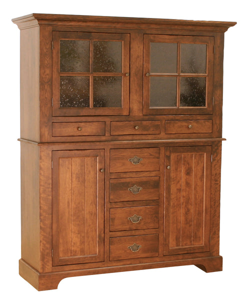 Williamsburg hutch shown in Cherry/New Carrington