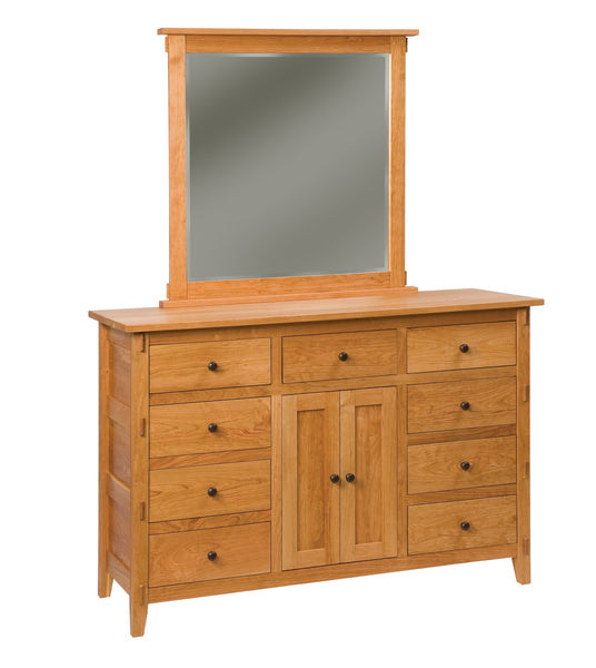 Bungalow 9 drawer dresser shown in Cherry/Fruitwood