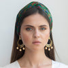 Statement hand painted feather enamel earrings