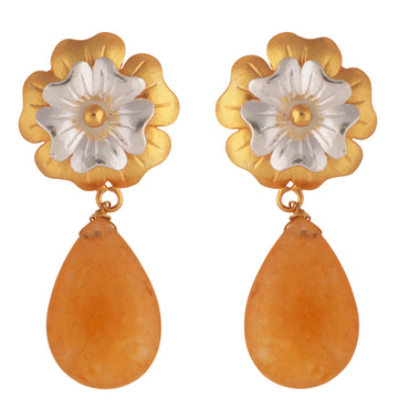 Jasmine earrings - yellow aventurine