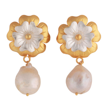 Jasmine earrings - baroque pearls