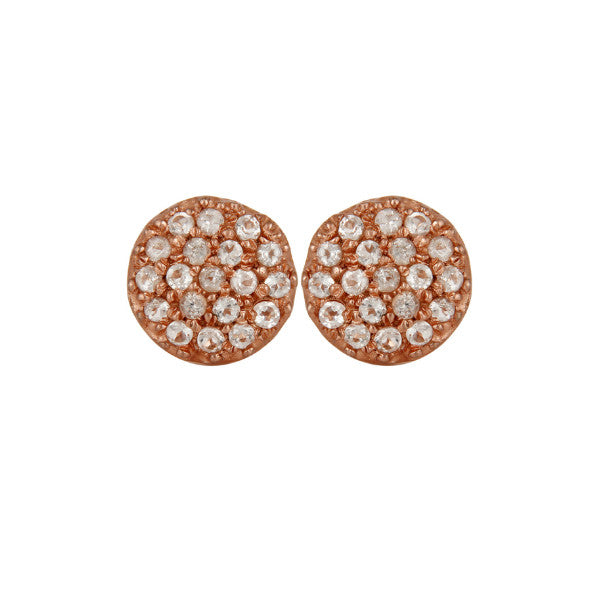 Crystal Studs - Rose Gold
