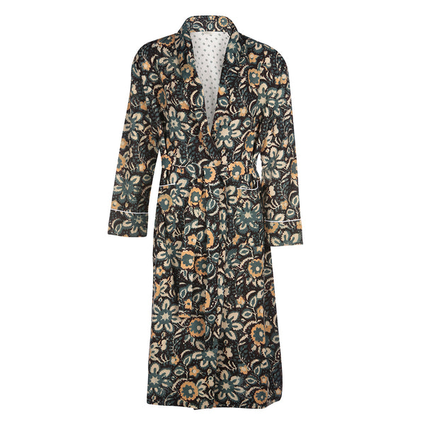 Green Floral Dressing Gown
