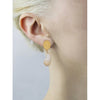 Hammered gold nugget and pearl earrings
