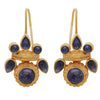 Intricate lapis heritage earrings
